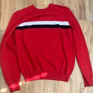 Red, Black and White Striped Forever 21 Sweater